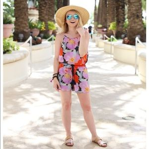 LOFT Full bloom romper nwot